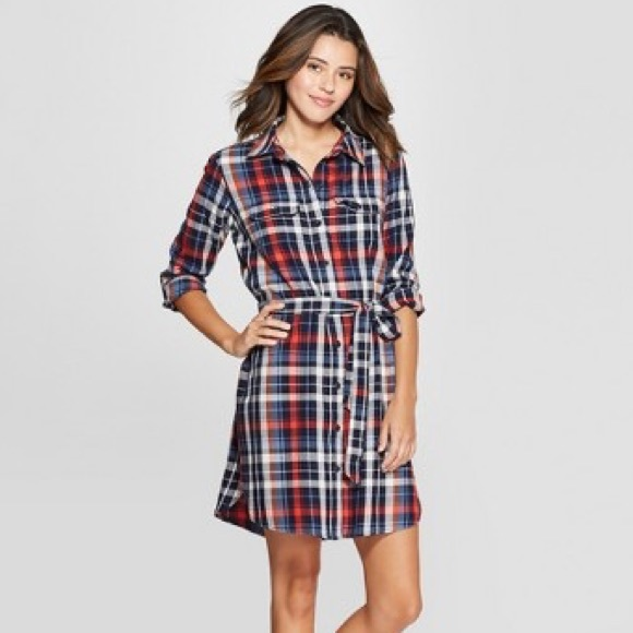 5d73c1062f7 Target universal threads red blue plaid dress